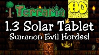 Terraria 1.3 Solar Tablet Summon Item! (1.3 new event eclipse)