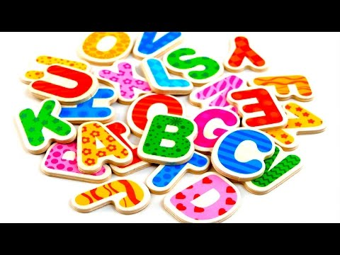 Kids ABC song Learn ABCD Wooden alphabet Wooden ABCD