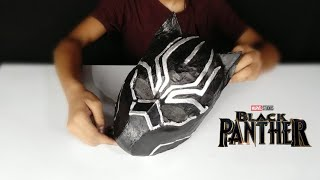 How to build Black Panther mask from basic meterials