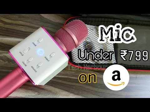 Bluetooth Microphone Q7 - Unbox and Review | Mic for Kids | Tech Harbour