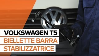 Come cambiare Tiranti barra stabilizzatrice VW TRANSPORTER V Platform/Chassis (7JD, 7JE, 7JL, 7JY, 7JZ, 7FD) - video tutorial