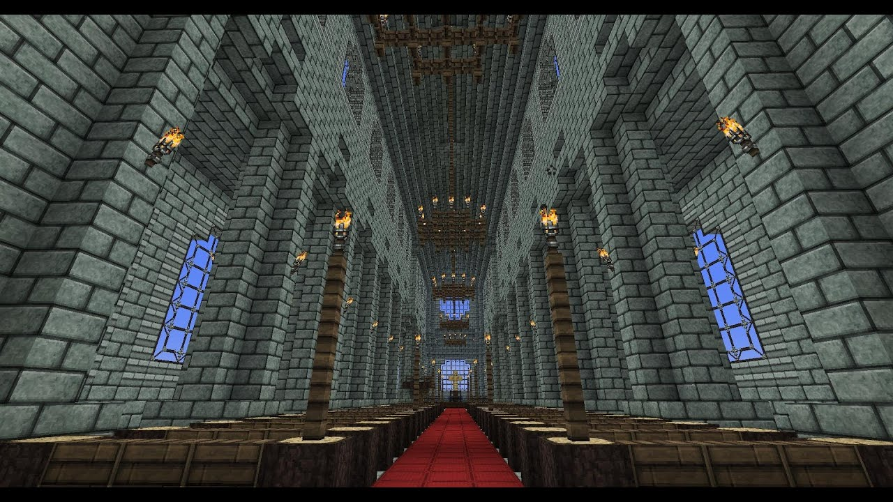 Minecraft Cathedral Tutorial New Part 1 Youtube