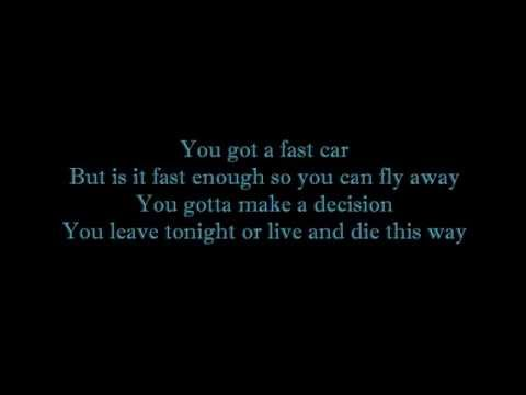 Boyce Avenue ft Kina Grannis - Fast Car Lyrics