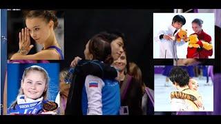 Yuzuru Hanyu cute moments with Russian Ladies Zhenya Alina Anna Sasha Julia (Yuzu 4T-3T-3T-3A)