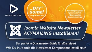 Joomla 3.0 Tutorial - Newsletter ACYMAILING installieren. Joomla Tutorial Deutsch #7