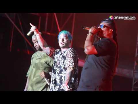 Zion & Lennox ft. J Balvin - Otra Vez - Metro Concierto Cartagena 2017