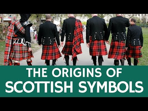 Traditional Scottish Symbols and National Items of Scotland with Foreign Origin