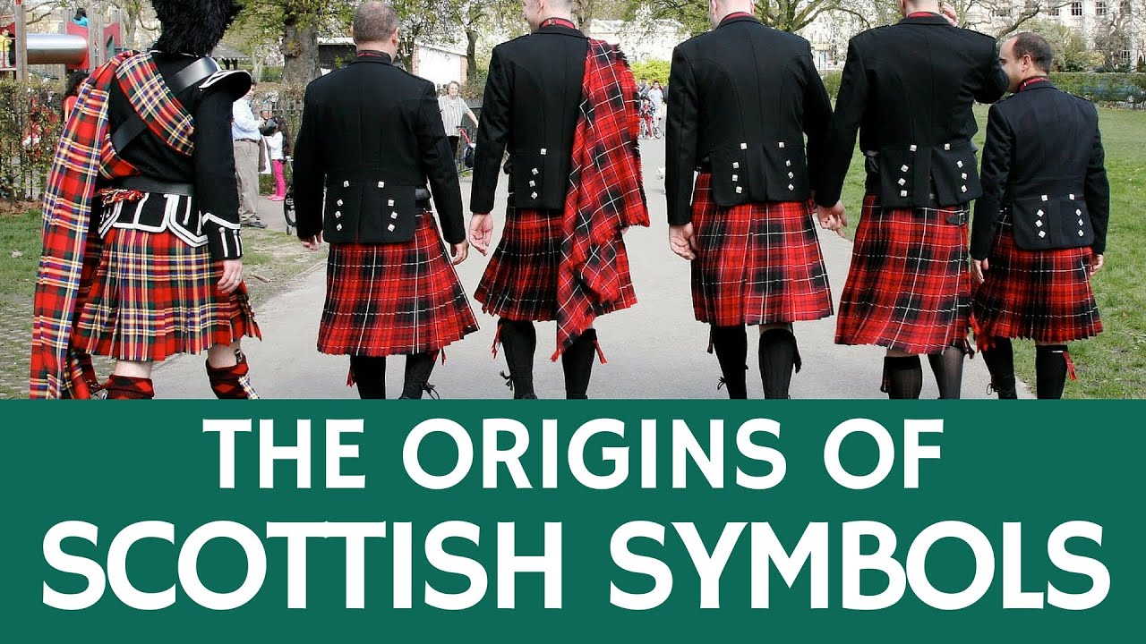 Traditional Scottish Symbols And National Items Of Scotland With