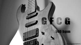 Hard Rock Pentatonic Blues Guitar Backing Track G F C