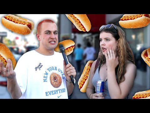 Asking Strangers If Hot Dogs Are a Sandwich or Not?