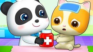 Bayi Kucing Sakit | Kumpulan Lagu Anak-anak | Lagu Anak Sakit | BabyBus Bahasa Indonesia
