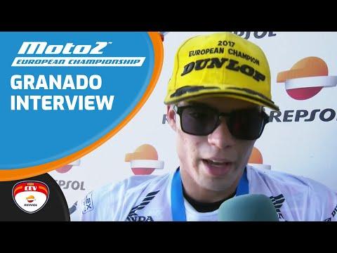 Interview Eric Granado race winner and champion 2017 Moto2™ European Championship