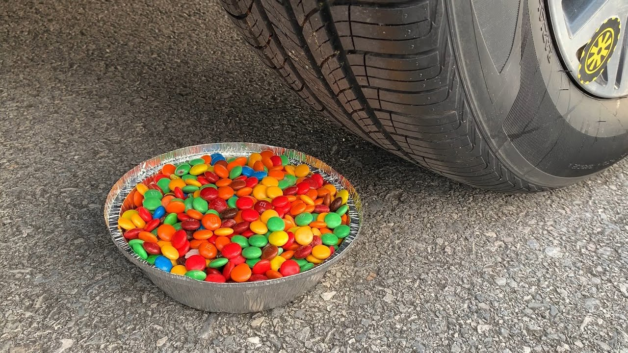 Experiment Car vs M&M Candy, Skittles Candy | Crushing Crunchy & Soft Things by Car | Car US