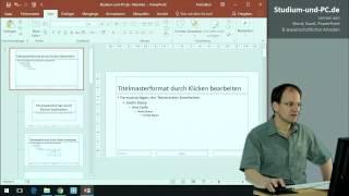 PowerPoint Folienmaster Voreinstellungen - https://www.studium-und-pc.de/