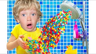 Dad wants candy or a Magic shower from m&m's