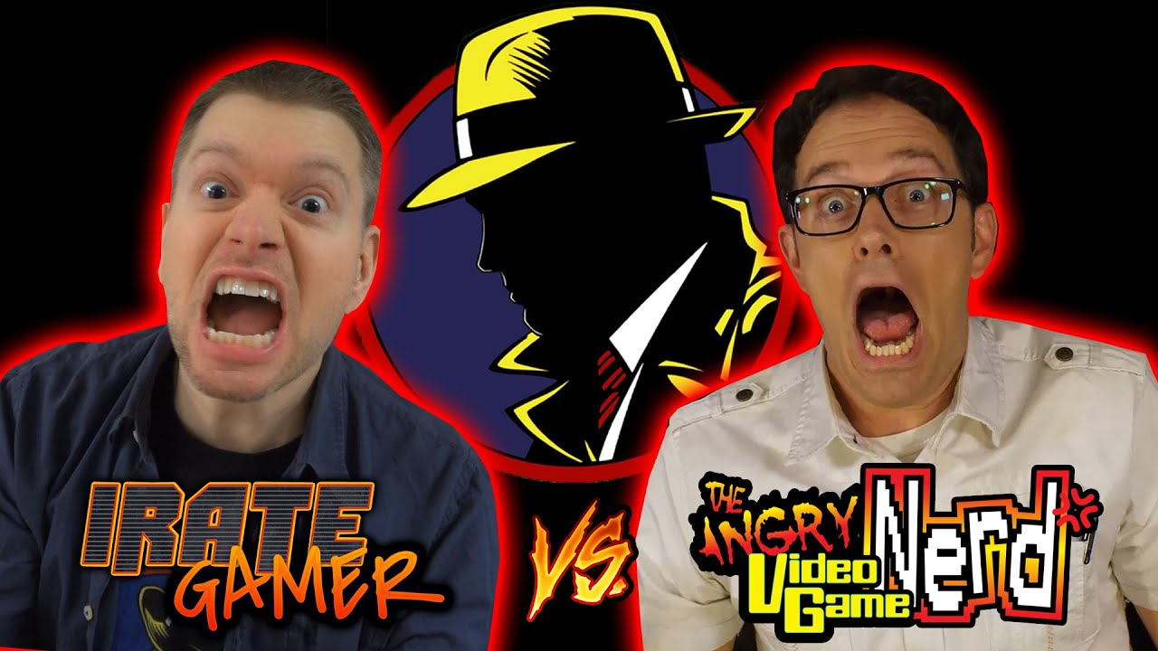 IRATE GAMER vs AVGN Epic Crossover! - Dick Tracy NES Video Game Review