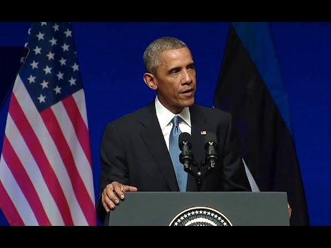 President Obama Addresses the People of Estonia