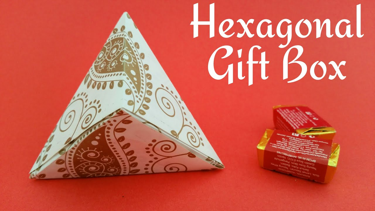 "How to make a paper ""Hexagonal gift box wrap""Useful Origami"
