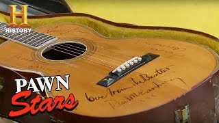 Pawn Stars: Guitar Autographed by The Beatles | History