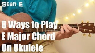 Hey everyone, I'm Sean E. Are you struggling to learn how to play the ukulele? Perhaps due to that pesky E major chord? Or are you just trying to learn easy ...
