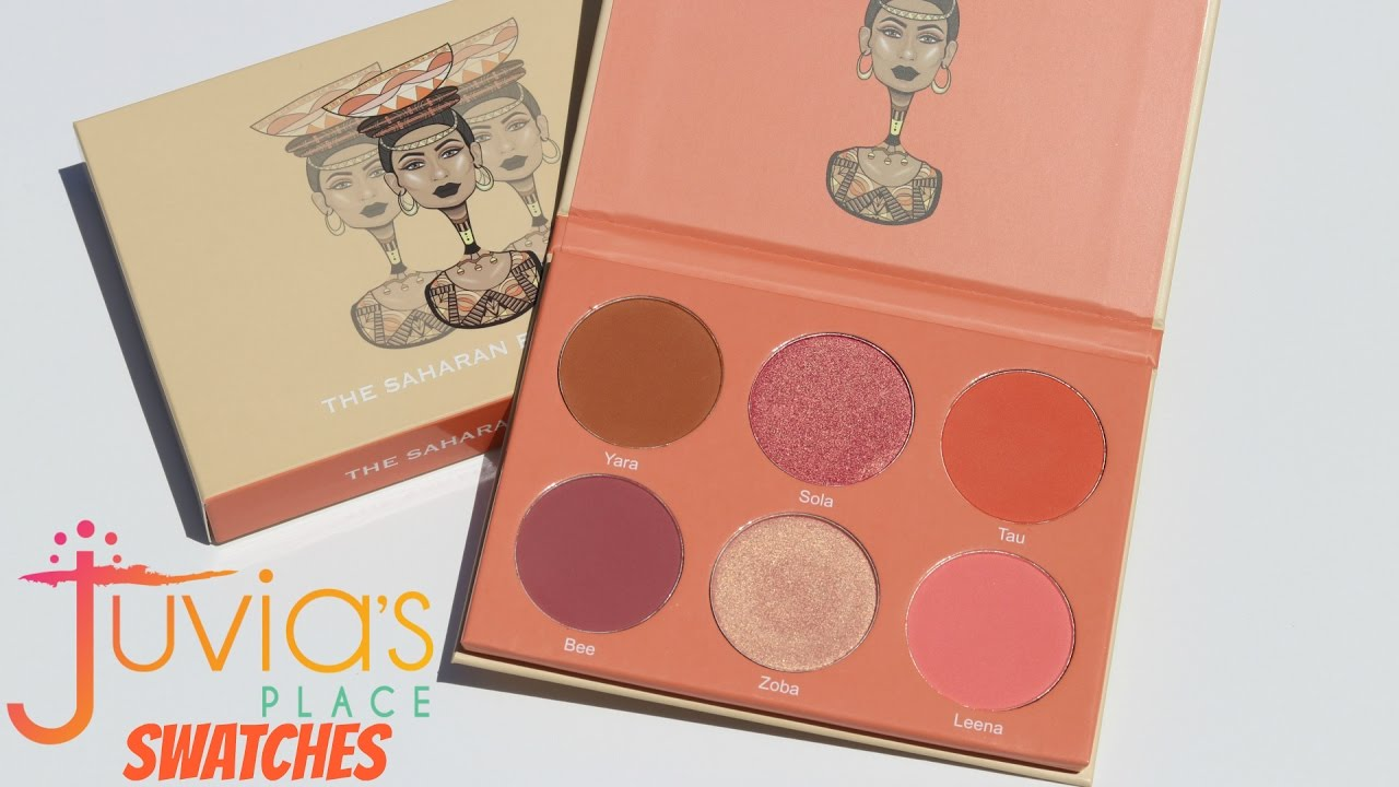 Juvias Place The Saharan Blush Palette Vol Ii Swatches