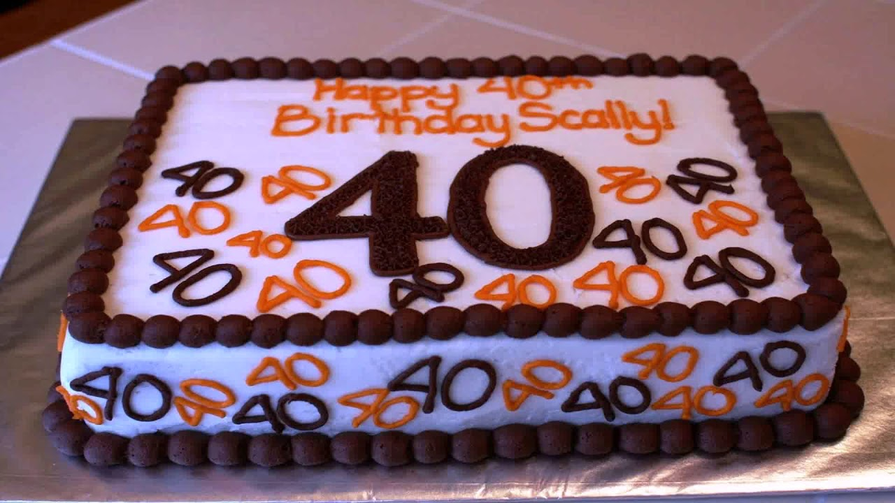 40th Birthday Party Decorations Ideas For Him