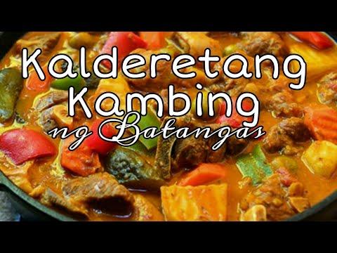 Kalderetang Kambing, Panghandaan, Batangas Style, How to cook Calderetang Kambing