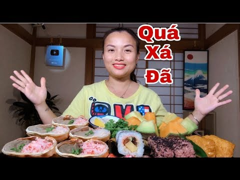🇯🇵Ngất Ngây Cua Tuyết Siêu Gạch, Sushi & Dưa Lưới Siêu Ngọt Siêu Ngon – Quá Xá Đã #328