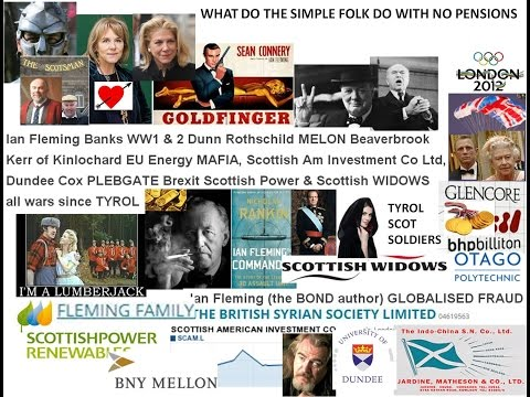 Ian Fleming Banks WW1 2  Dunn Rothschild MELON Kerr of Kinlochard EU Energy Anglo Am Dundee Cox PLEB