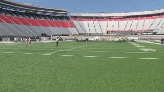 Battle at Bristol football field is very close to completion in just 7 days