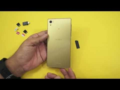 Sony Xperia Z5: How To Insert DUAL SIM Card & Micro SD Card