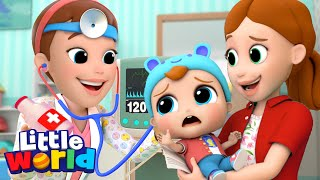 Be Brave Baby John |  Doctor Checkup | Little World - Kids Songs & Nursery Rhymes