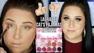 LAURA LEE CAT'S PAJAMAS PALETTE REVIEW + TUTORIAL!!