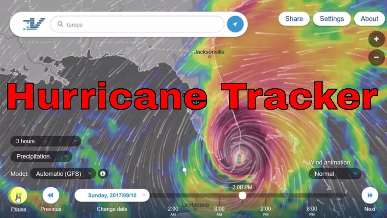 Hurricane Tracker Track Tropical Storms Youtube