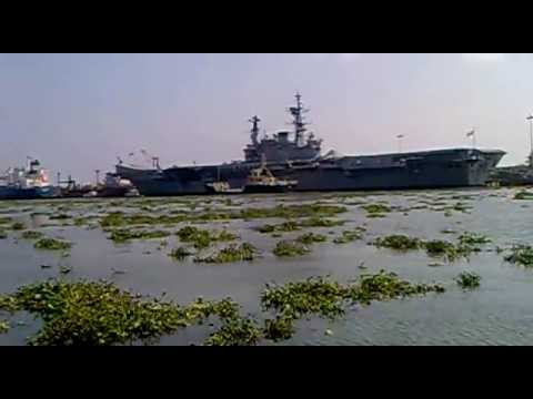 Biggest Navy ship in cochin port