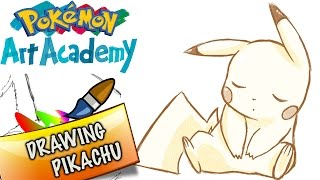 Pokemon Art Academy 3DS Gameplay Novice Finale - Drawing Pikachu