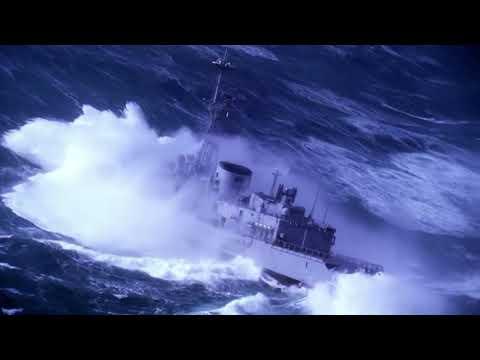 NAVY SHIPS IN HEAVY SEA
