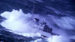 NAVY SHIPS IN HEAVY SEA
