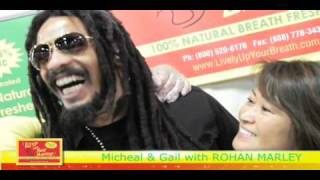 Rohan Marley at Expo West 2011 with Lively Up Your Breath