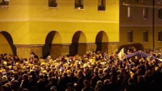 Friedlicher Fan-Marsch der Schalke04 Fans endet in Ausschreitung