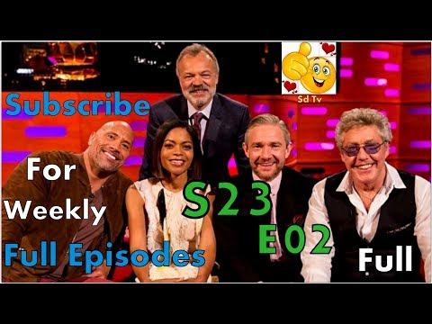 Full Graham Norton Show S23E02 Dwayne Johnson, Martin Freeman, Naomie Harris