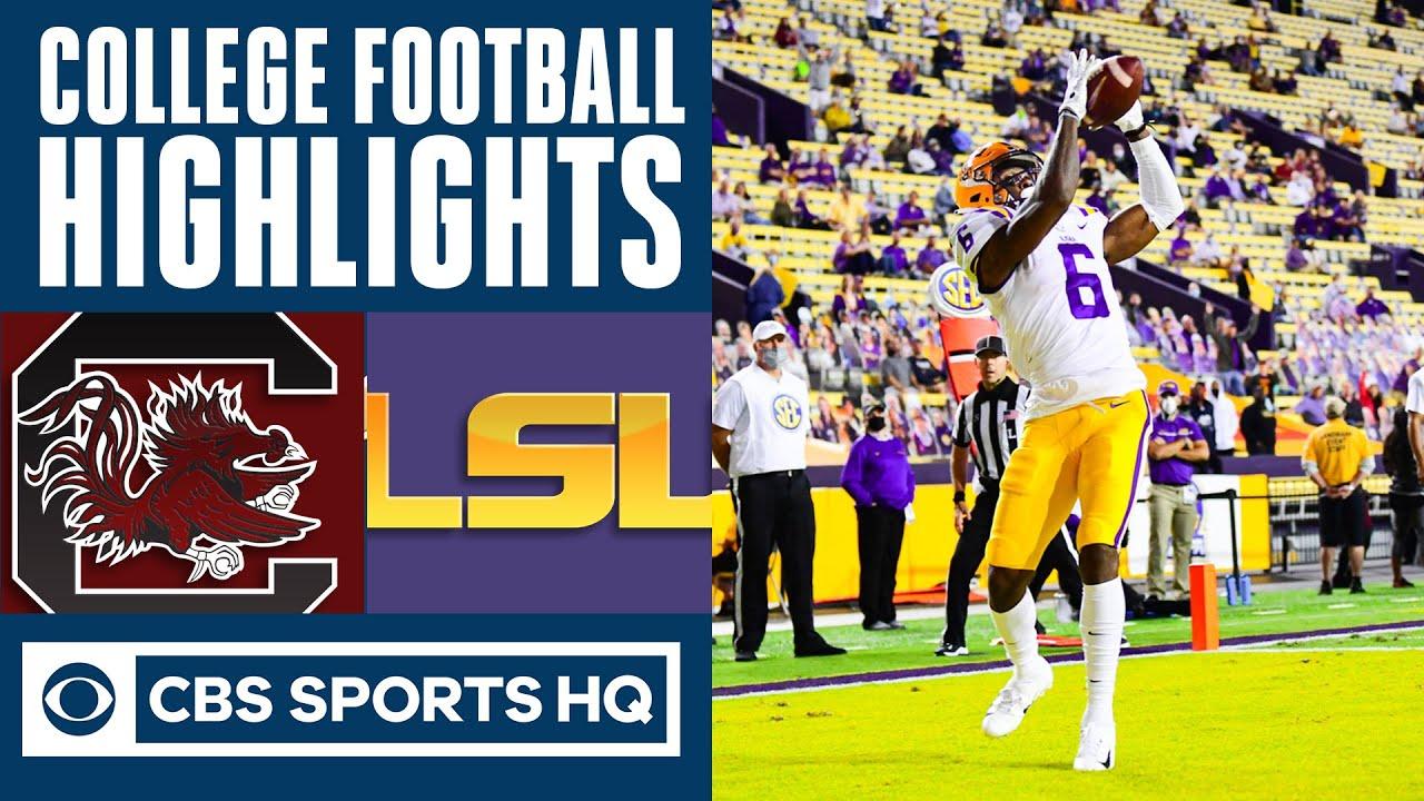 South Carolina vs LSU Highlights: LSU returns first kick for TD | CBS Sports HQ