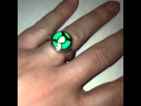 working green lantern cosplay ring with led light youtube. Black Bedroom Furniture Sets. Home Design Ideas