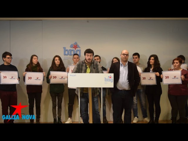 Rolda de Prensa Anuncio 30 Aniversario Galiza Nova