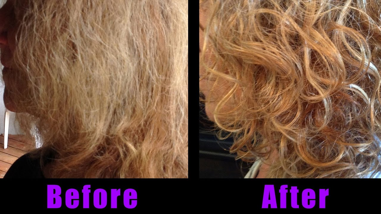 Curly Hair How To Style Before And After With Aveda