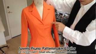 Making Womens Jacket With Darts by Los Angeles Patternmaker Pisano
