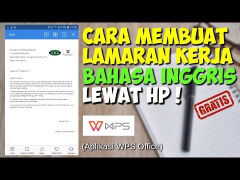 CARA MEMBUAT LAMARAN KERJA BAHASA INGGRIS LEWAT HP - YouTube