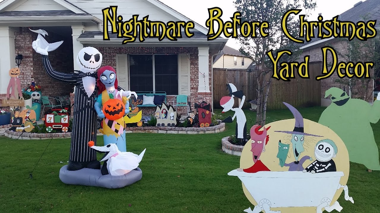 HALLOWEEN TOWN NIGHTMARE BEFORE CHRISTMAS HALLOWEEN YARD LAWN DECOR ...