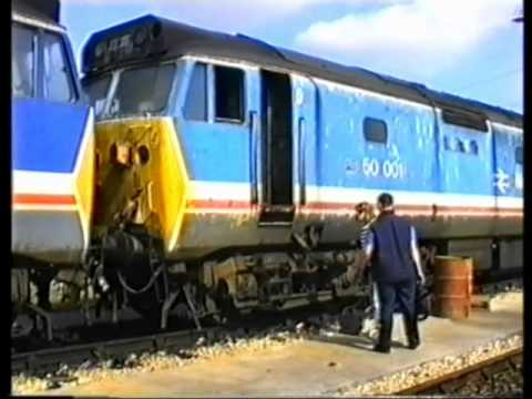 Class 50s at Plymouth Laira depot open day 14 September 1991