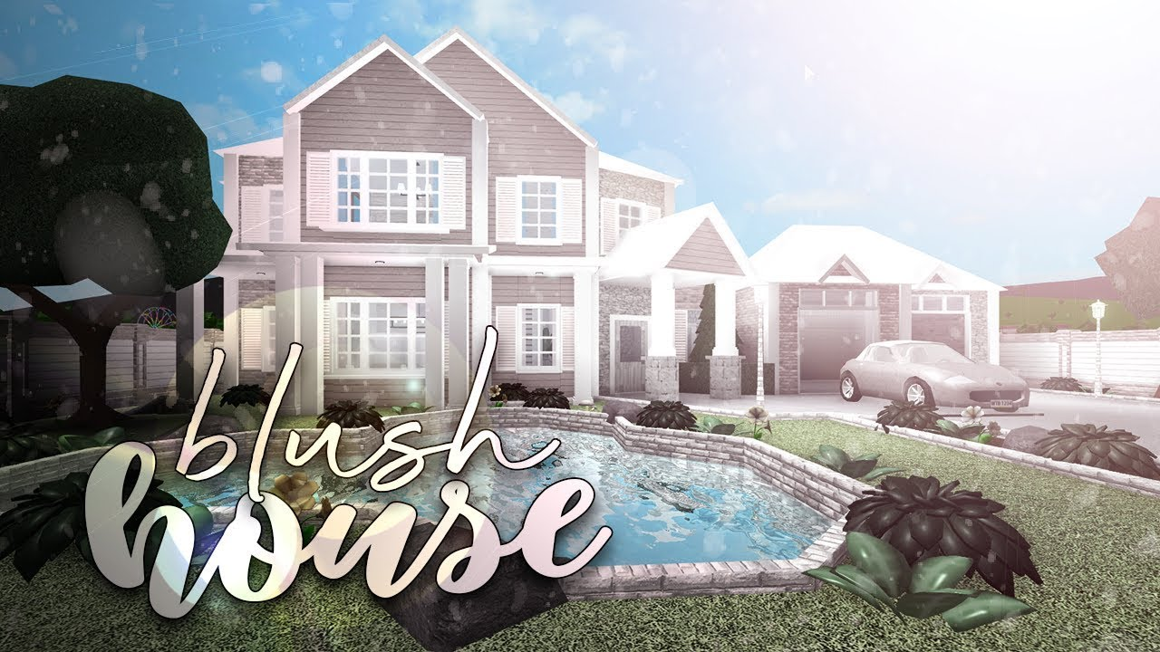Roblox Bloxburg Blush House House Build Youtube